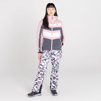 Provenance wasserdichte, isolierte Skijacke mit Kapuze für Damen Rosa