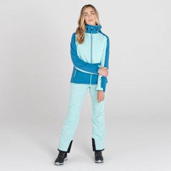 Enclave II wasserdichte, isolierte Skijacke mit Kapuze für Damen Blau