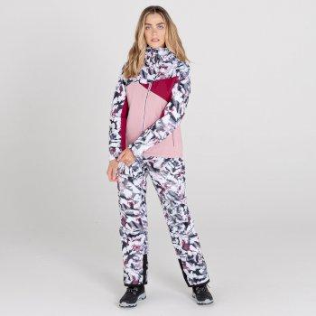 Determined wasserdichte, isolierte Skijacke für Damen Rosa