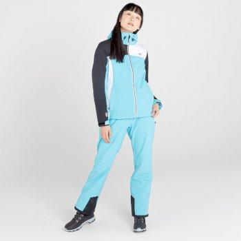 Ice Gleam II wasserdichte, isolierte Skijacke mit Kapuze für Damen Blau