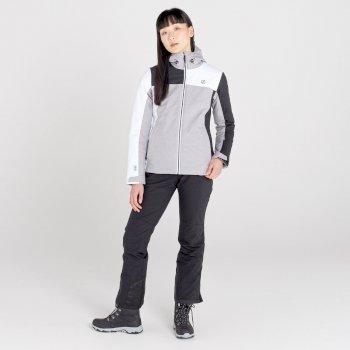 Ice Gleam II wasserdichte, isolierte Skijacke mit Kapuze für Damen Grau
