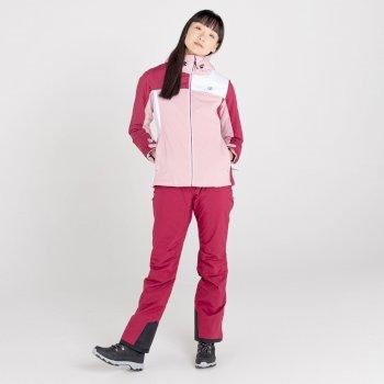 Ice Gleam II wasserdichte, isolierte Skijacke mit Kapuze für Damen Rosa