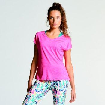 Serrate T-Shirt für Damen Cyber Pink