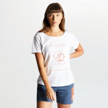 Damen Glow Up Printed T-Shirt Weiß