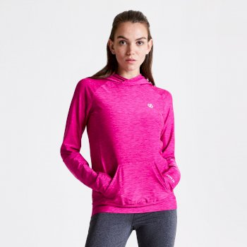 Damen Sprint City Lightweight Hoodie Rosa