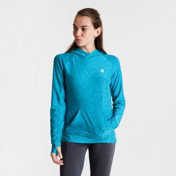 Damen Sprint City Lightweight Hoodie Blau