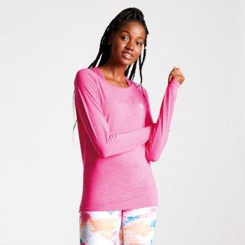 Riposte Cutout-Oberteil mit langen Ärmeln für Damen Cyber Pink