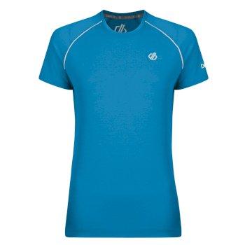 Instate Woll-T-Shirt für Damen Blue Jewel