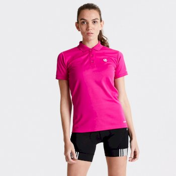 Set Forth Polo-Shirt für Damen Rosa