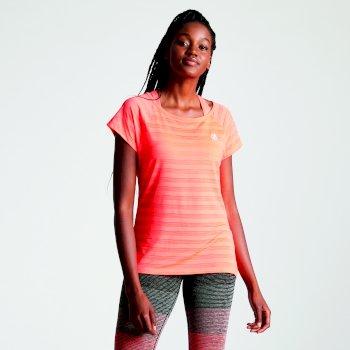 Efficiency - Damen T-Shirt - atmungsaktiv Fiery Coral