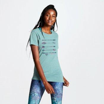 Aim Higher Damen-T-Shirt mit Rückenausschnitt Aruba Blue