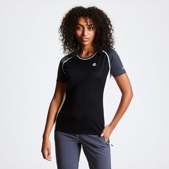 Fixate Woll-T-Shirt Für Damen Schwarz