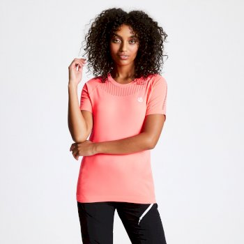 Seamless T-Shirt für Damen Orange