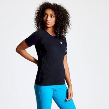 Seamless T-Shirt für Damen Schwarz