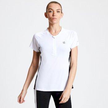 Outdare Radtrikot mit halbem Reißverschluss für Damen Weiß