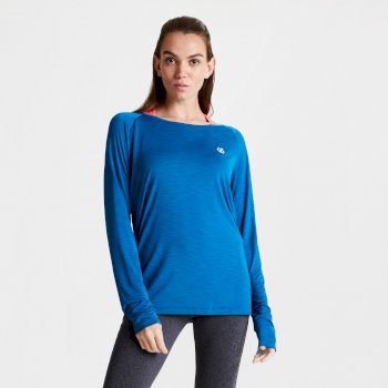 Praxis Langarmshirt für Damen Blau