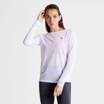 Praxis Langarmshirt für Damen Weiß
