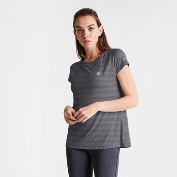 Dare 2b Women's Defy Quick Drying T-Shirt - Ebony Grey