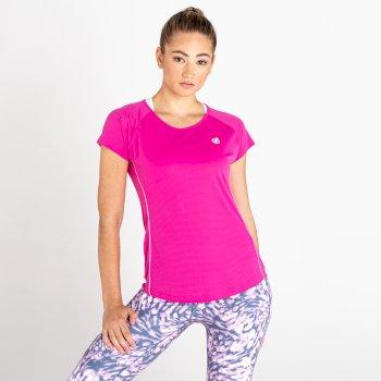 Corral Schnell Trocknendes T-Shirt Für Damen Rosa