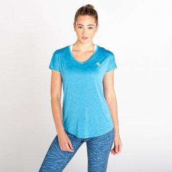 Corral Schnell Trocknendes T-Shirt Für Damen Blau