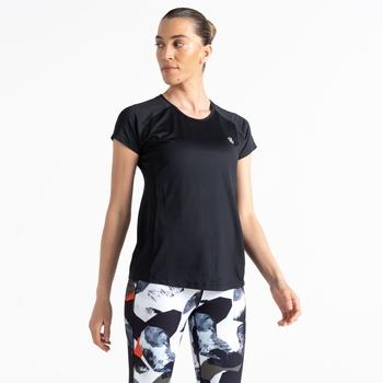 Corral schnell trocknendes T-Shirt für Damen Schwarz