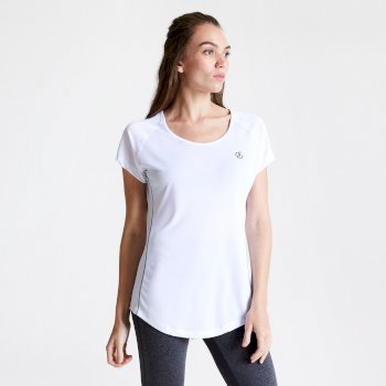 Corral schnell trocknendes T-Shirt für Damen Weiß