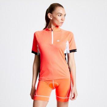 Expound II Radtrikot mit halbem Reißverschluss für Damen Orange