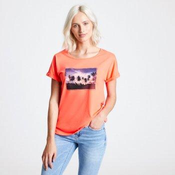 Improve Graphic T-Shirt Für Damen Orange