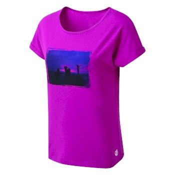 Improve Graphic T-Shirt Für Damen Rosa