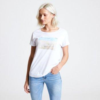 Improve Graphic T-Shirt für Damen Weiß