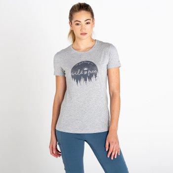 Ease of Mind Graphic T-Shirt für Damen Grau