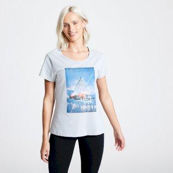 Summer Nights Graphic T-Shirt für Damen Grau