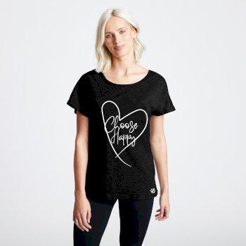 Evince Graphic T-Shirt für Damen Schwarz