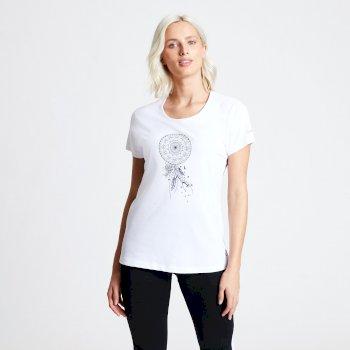 Parallel Dreamcatcher Bedrucktes T-Shirt für Damen Weiß
