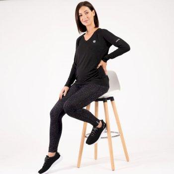 The Kate Ferdinand Edit - Maternity Discern Long Sleeve T-Shirt - Black