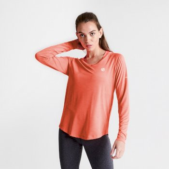 Discern Langarmshirt für Damen Orange