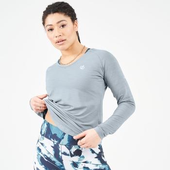 Discern Langarmshirt Für Damen Grau