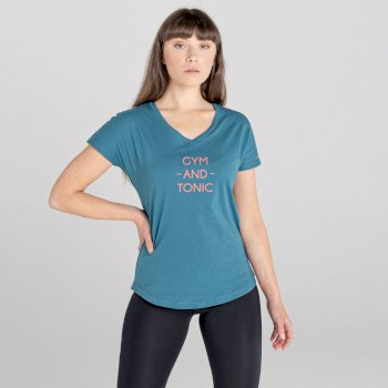 Moments Grafik-T-Shirt Für Damen  Grün