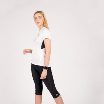 Outdare II Leichter Jersey Mit Halblangem Reißverschluss Für Damen  Weiß