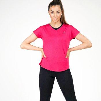 Mit Swarovski-Kristallen - Agleam kurzärmliges T-Shirt Für Damen Rosa