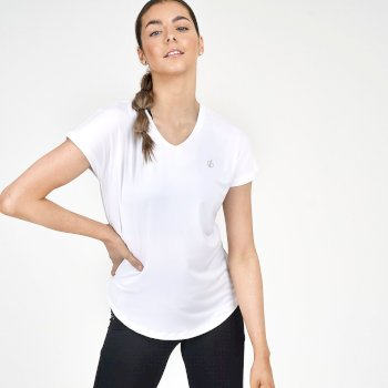 Mit Swarovski-Kristallen - Agleam kurzärmliges T-Shirt Für Damen Weiß