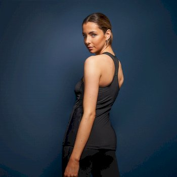 Dare 2b Swarovski Embellished - Women's You're A Gem Racer Back Vest  - Black