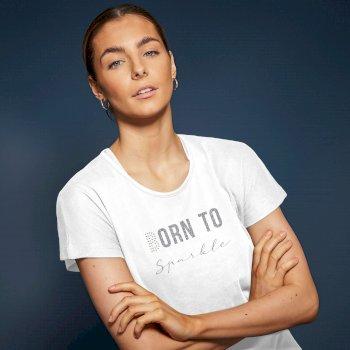 Dare 2b Swarovski Embellished - Women's Emanation Short Sleeved Graphic T-Shirt  - White