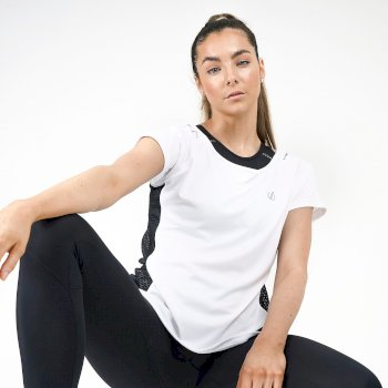 Dare 2b Swarovski Embellished - Women's You're A Gem Lightweight T- Shirt - White