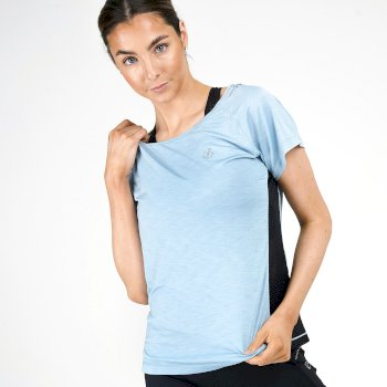 Dare 2b Swarovski Embellished - Women's You're A Gem Lightweight T- Shirt - Cameo Green