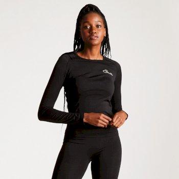 Zonal III Langarm-Unterhemd für Damen schwarz