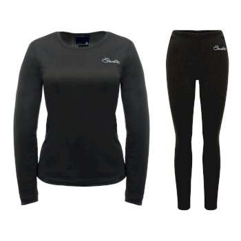 Dare2b Women's Insulate Base Layer Set Black