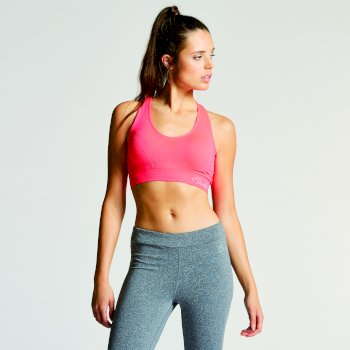 Women's Warm Up Sports Bra Neon Pink
