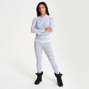 Templated - Damen Baselayer-Set - nahtlos White
