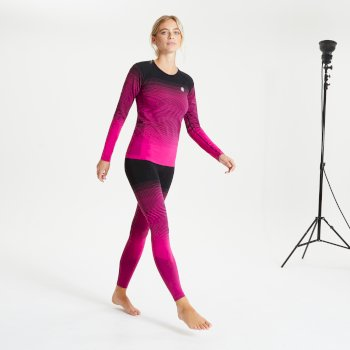 In The Zone Performance Baselayer-Set für Damen Rosa